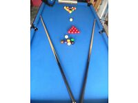 Pot Black Pool Table - Blue Top