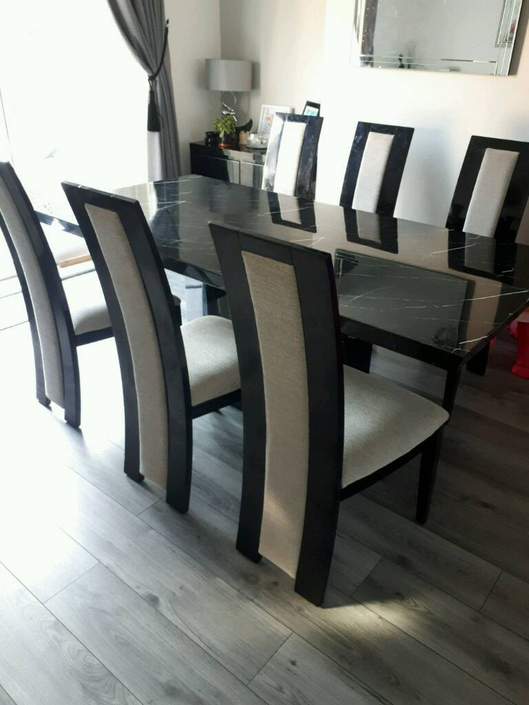 Liverpool Merseyside 65000 Black Marble Dining Table
