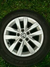 "4 x Volkswagen Clayton 16"" Genuine Alloys and Tyres"