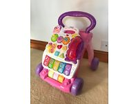 Baby walker vtech pink with phone excellent condition