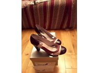 Womens leather heel shoes sale 2 for 1 bargain sale
