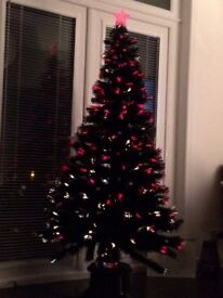 Black 6ft Fibre Optic Xmas Tree