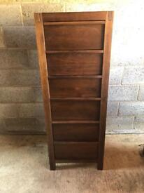 Walnut wooden Tallboy drawers