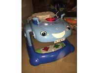 Baby boy car sit in seat comes walker