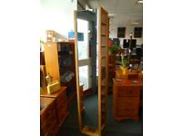 Solid Oak Hallway Shoerack with mirror - Charity