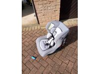USED GREY AND BLACK MOTHERCARE MUTIGROUP UPTO 18kg CAR SET FOR SALE