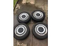 """VW T5 16"""" Steel Wheels and Tyres"""