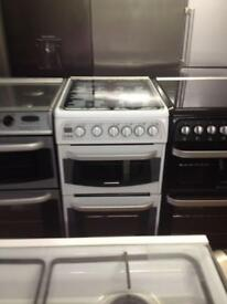 Hotpoint white gas cooker