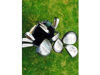 Selection of golf Clubs with bag.