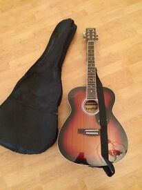 Westfield 6 string half size acoustic guitar cw wit strap and case £19 no offers