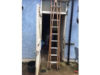 Window cleaning ladder wooden