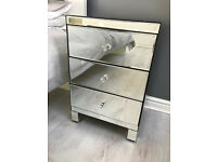 Mirrored Bedside table (x2)