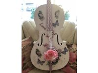 Shabby Chic Large Altered Cello :)