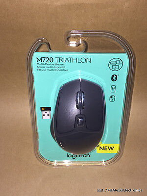NEW LOGITECH M720 TRIATHLON MULTI-DEVICE WIRELESS MOUSE FAST FREE SHIPPING