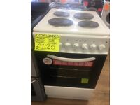 COOKWORKS 50CM SOLID TOP ELECTRIC COOKER IN WHITE