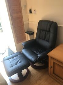 Napoli Swivel heated Massage Chair + foot stool