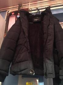 Come and grab a brand New coat with a fur hood