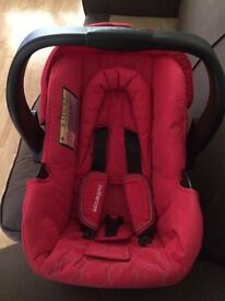 Mothercare Red pushchair with travel cot