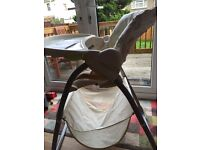 Brilliant Mothercare reclining high chair with cute bear design