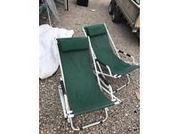 Fishing chairs pair