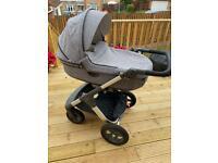 Stokke pram, stroller and car seat set