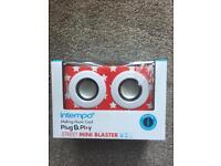 Mobile phone plug and play speakers