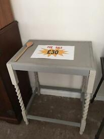 Small grey painted table