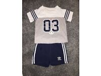 Baby boy adidas and river island outfits bundle