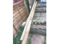 2x brand new fence posts and 2x fence panels