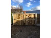 Driveway gate wooden gate timber