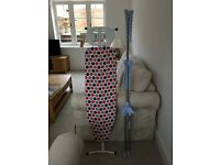 Small Ironing board and hanging rail