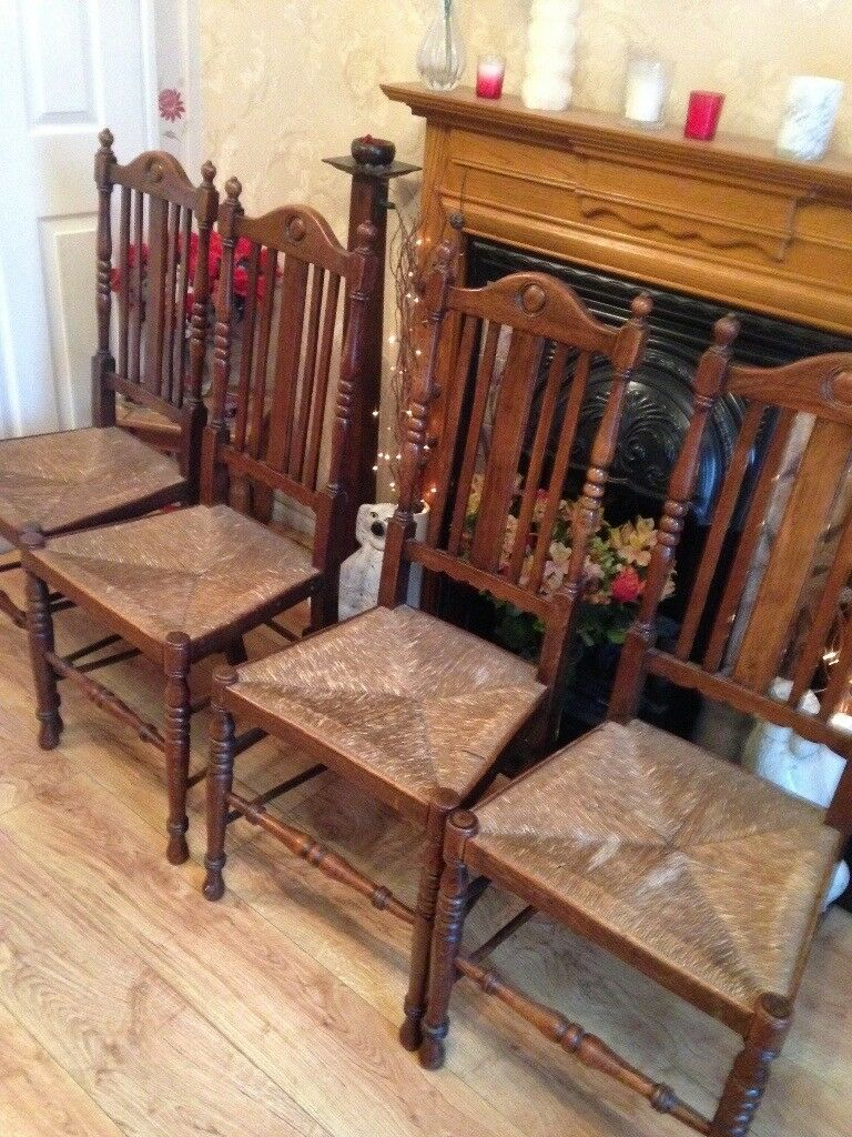4 x banister back chairs