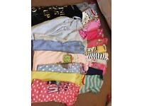 19 x girls aged 5-6 years short sleeve tops