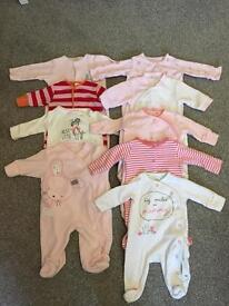 HUGE BUNDLE BABY GIRL NEWBORN CLOTHES - 28 ITEMS FAB CONDITION