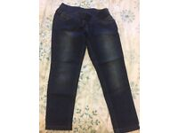 Two pairs of dark maternity jeans Size 14