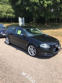 "AUDI A3 tdi 2011 £0 road tax, 18"" S3 golf wheels"