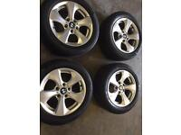 """BMW alloy wheels and tyres 16"""" for sale £240 call 07860431401"""