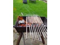 Bbq made from 6mm steel with legs