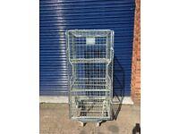 Secure storage trolley