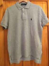 Polo Ralph Lauren Grey Marl Polo Shirt S