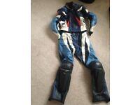 Ladies Dainese Racing 2pc Leather Motorbike Suit