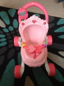 Fisher Price Push Along Pram/ Walker