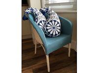 Lloyd loom style lounge chair