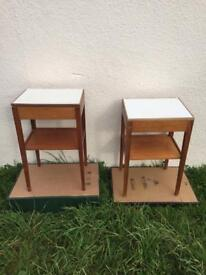 Remploy bedside cabinets x 2 - formica - military issue - STILL AVAILABLE