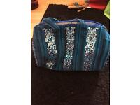 Blue sequin and material bag