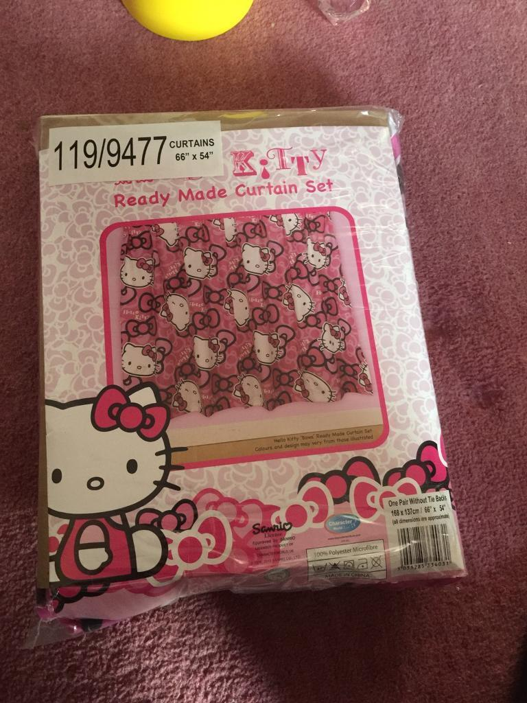 Brand new hello kitty curtains