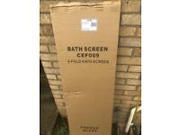 2 Fold Bath Screen