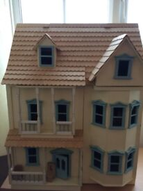 Three storey wooden doll's house