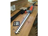 Hedge trimmer, long reach, 18v battery powered, boxed and unused