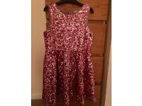 Girls pink sequin dress